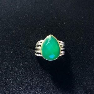 Chrysoprase Pear Ring